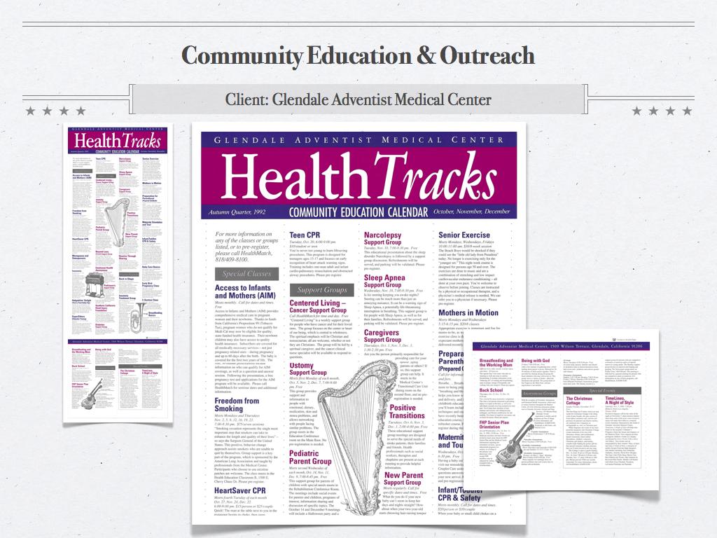 GAMC Health Tracks Community Calendar