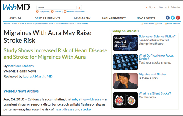 Migraines With Aura May Raise Stroke Risk