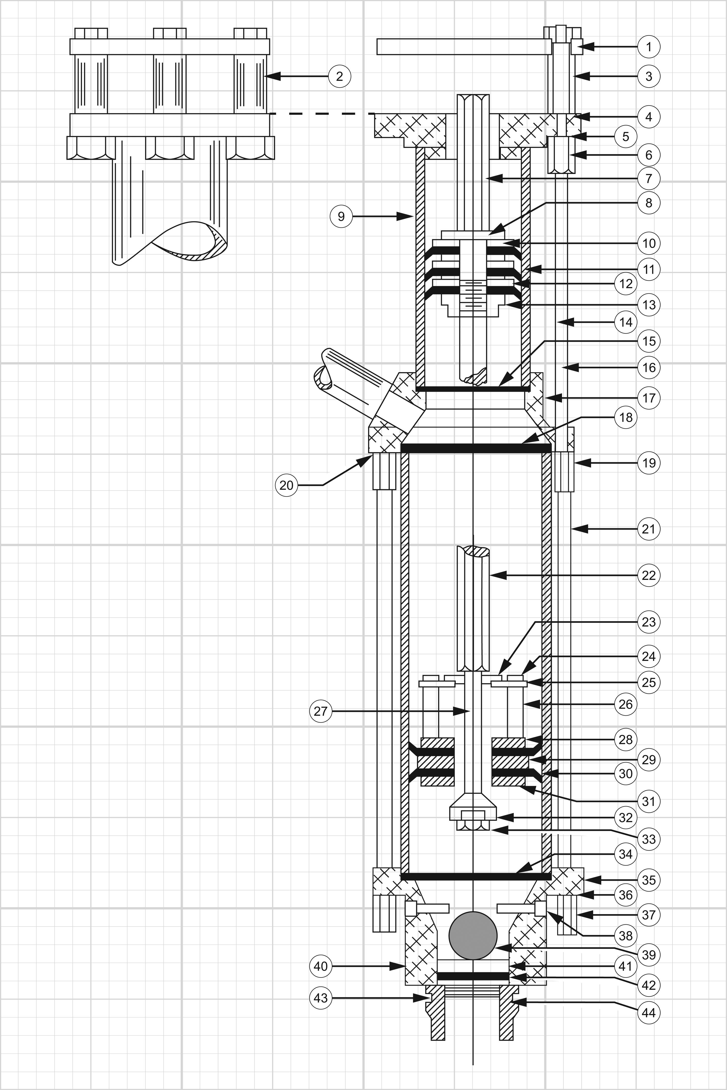 4 Inch Pump Drawing for Sprayer