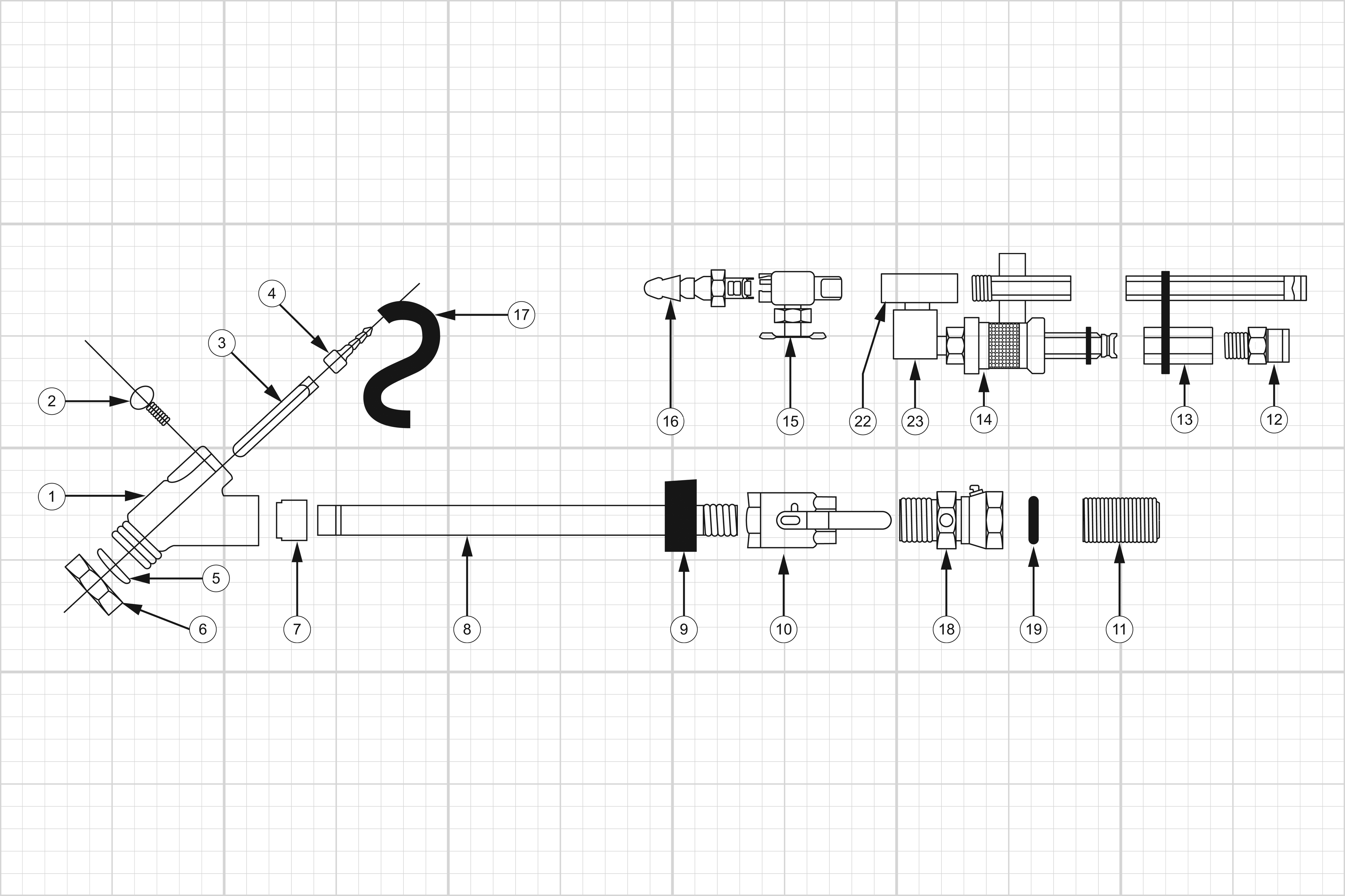 Extension Gun Pole Wand Drawing for Sprayer