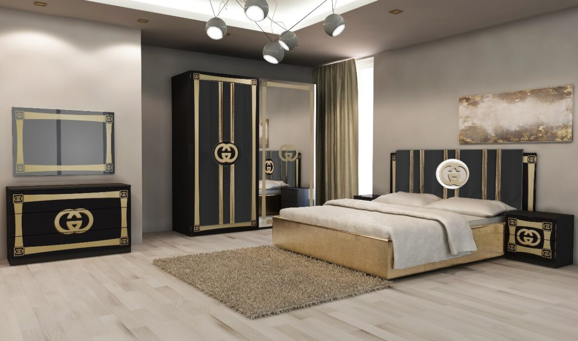 Gucci Italian Bedroom - Leen Furniture And Carpet Limited