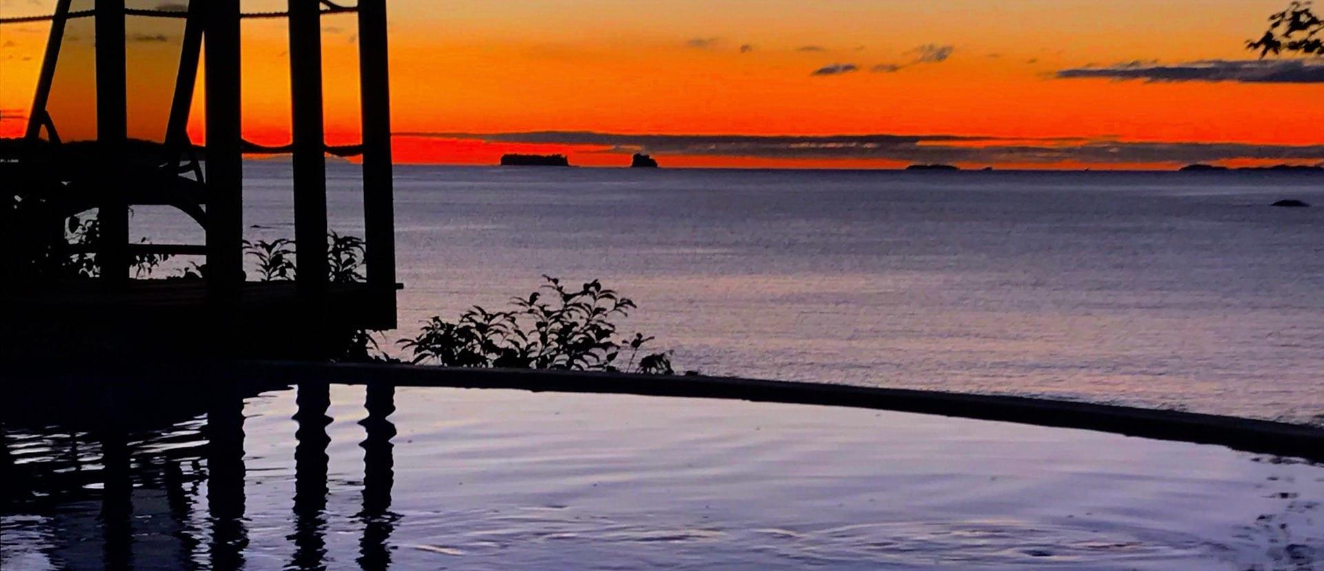 red Panamanian sunset