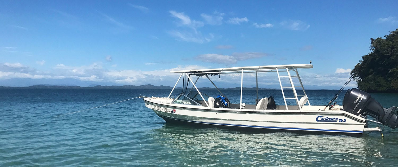 Cala Mia Island Resort fishing boat