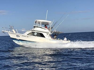 Covered Panama Fishing Boat