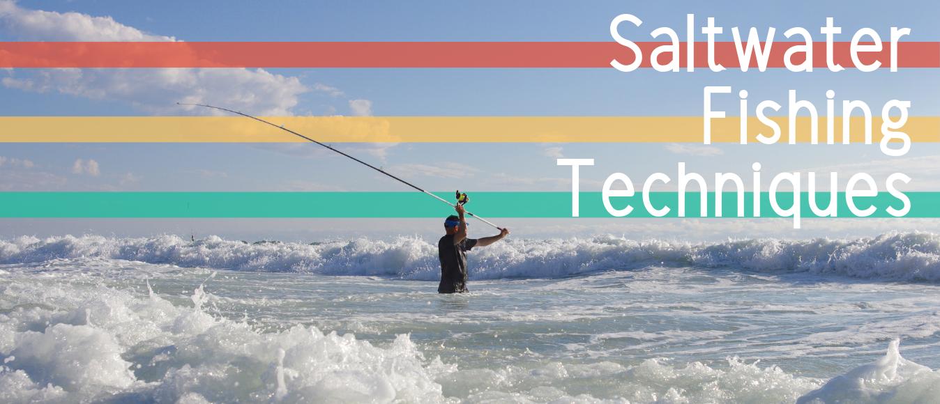 Diferentes tipos de técnicas de pesca en agua salada