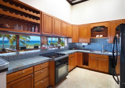 Anini beach house kitchen