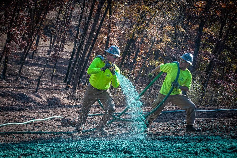 Hydroseeding Jobsite
