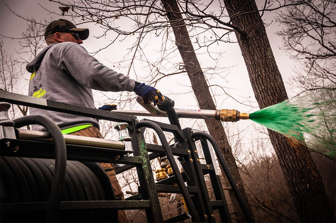 Oklahoma Residential Jobsite-March-2019-Clint-Bates of Semper Fi Hydroseed applying product