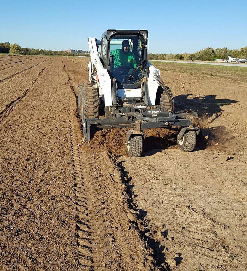 Working On Large Soil Conditioning Project