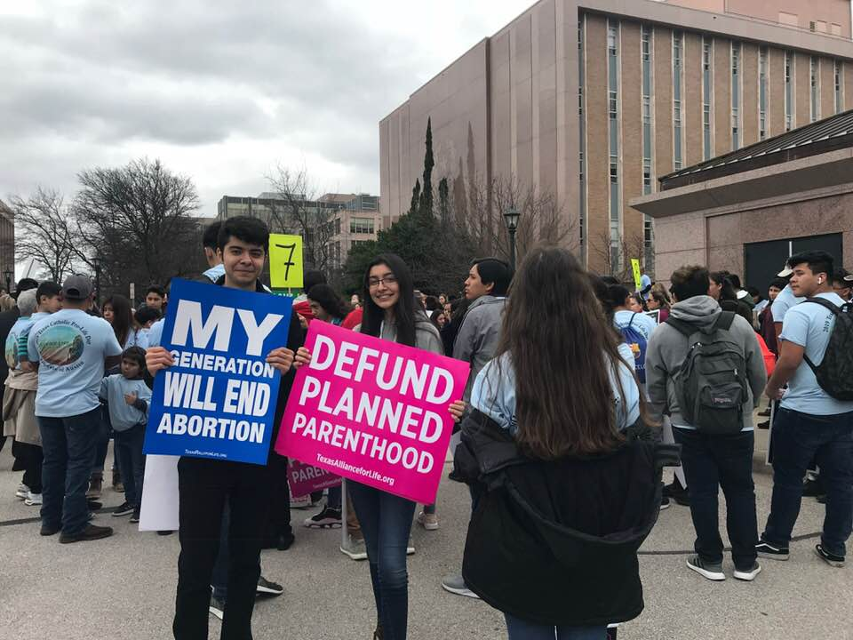 Our Kids at Heart Students Volunteering for Pro-Life