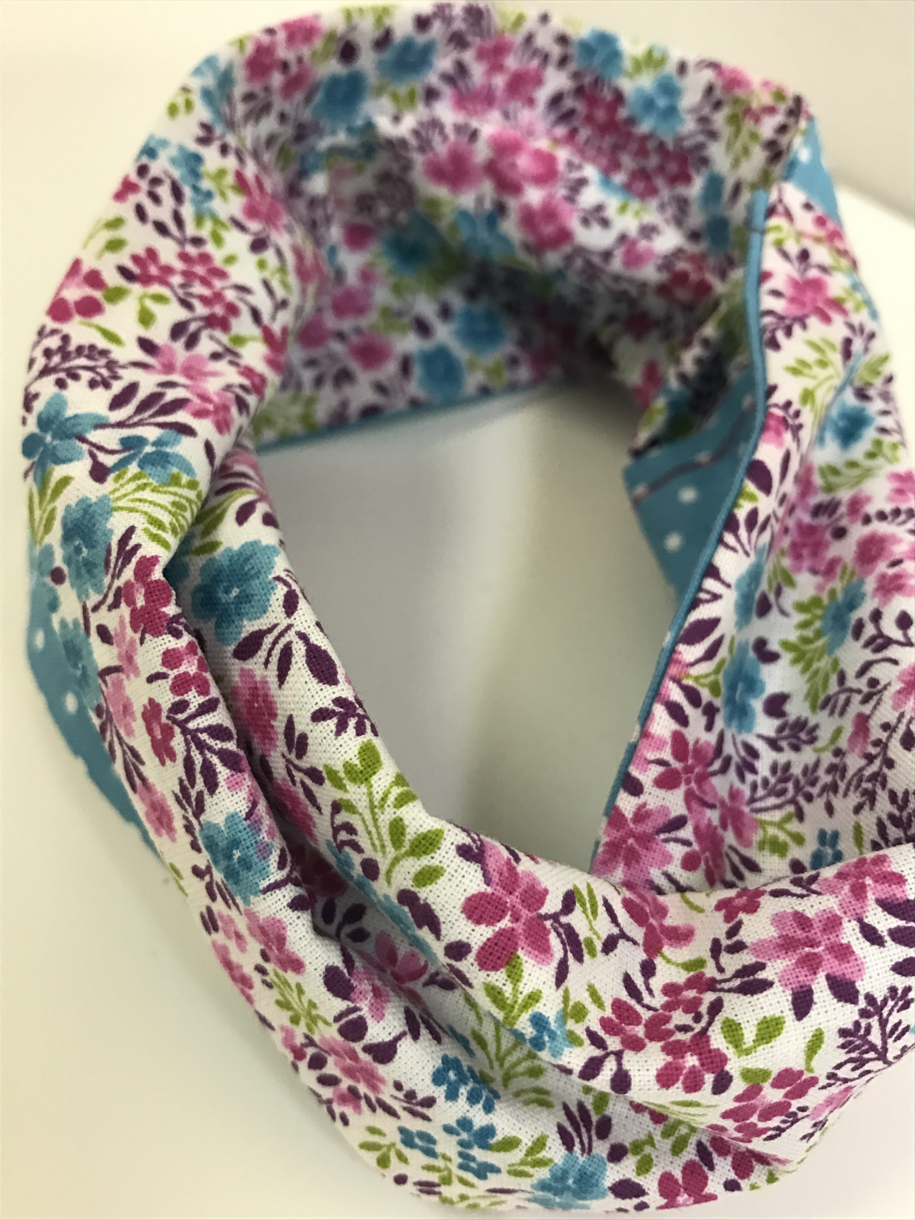 Reversible Mini Infinity Scarf (Fits 18″ Dolls)