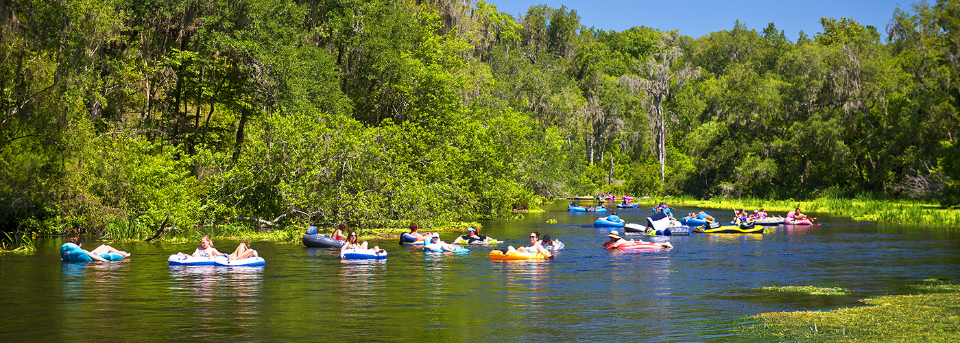 Tubing at Ichetucknee Springs State Park Summer