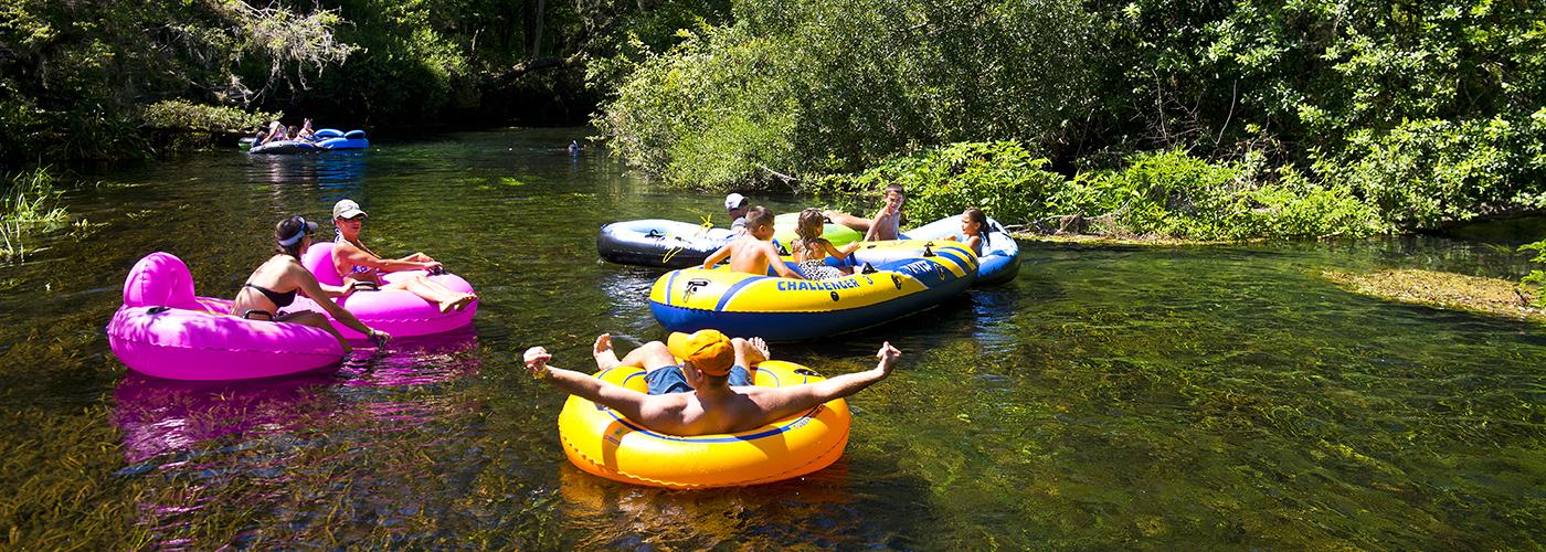 Floating on Ichetucknee Springs