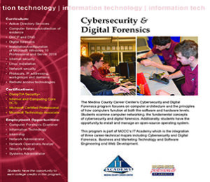 Cybersecurity & Digital Forensics (formally CSF)