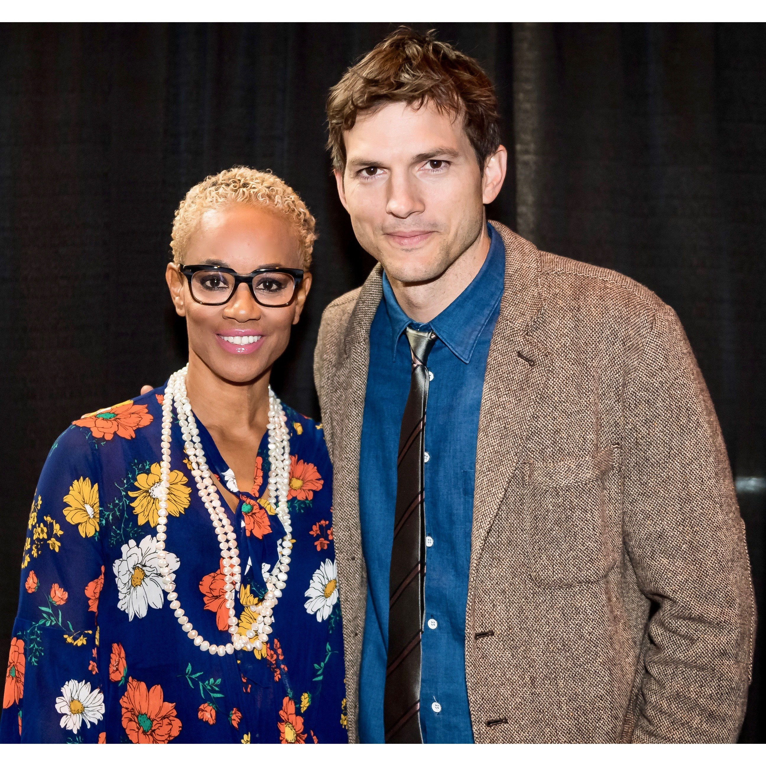 Dr. Bello and Ashton Kutcher speak at International Educational Empower 2019 Conference in Chicago.