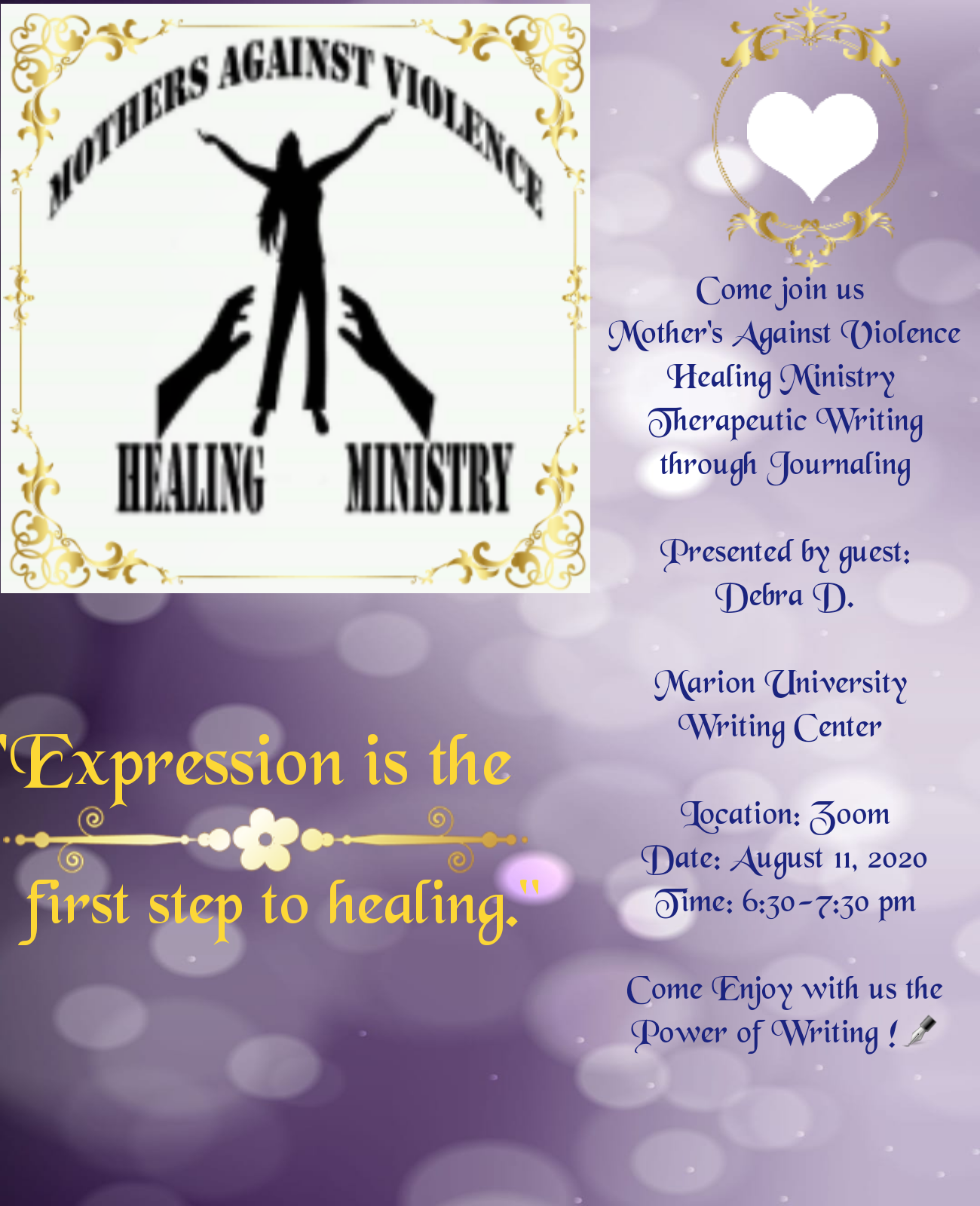Therapeutic Writing and Journaling Workshop 1