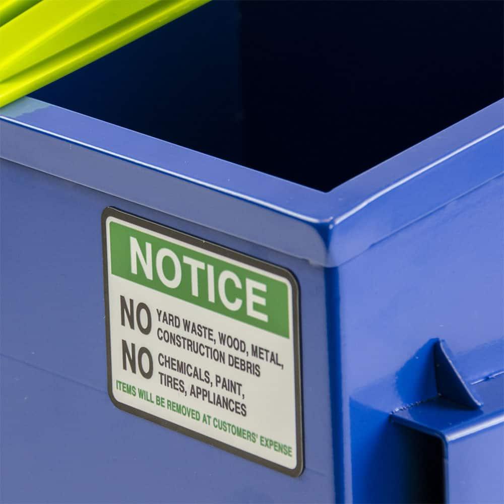 Dumpster Warning Signage