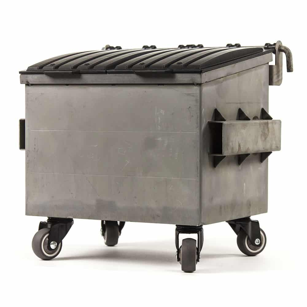 Raw Steel Dumpsty Dumpster
