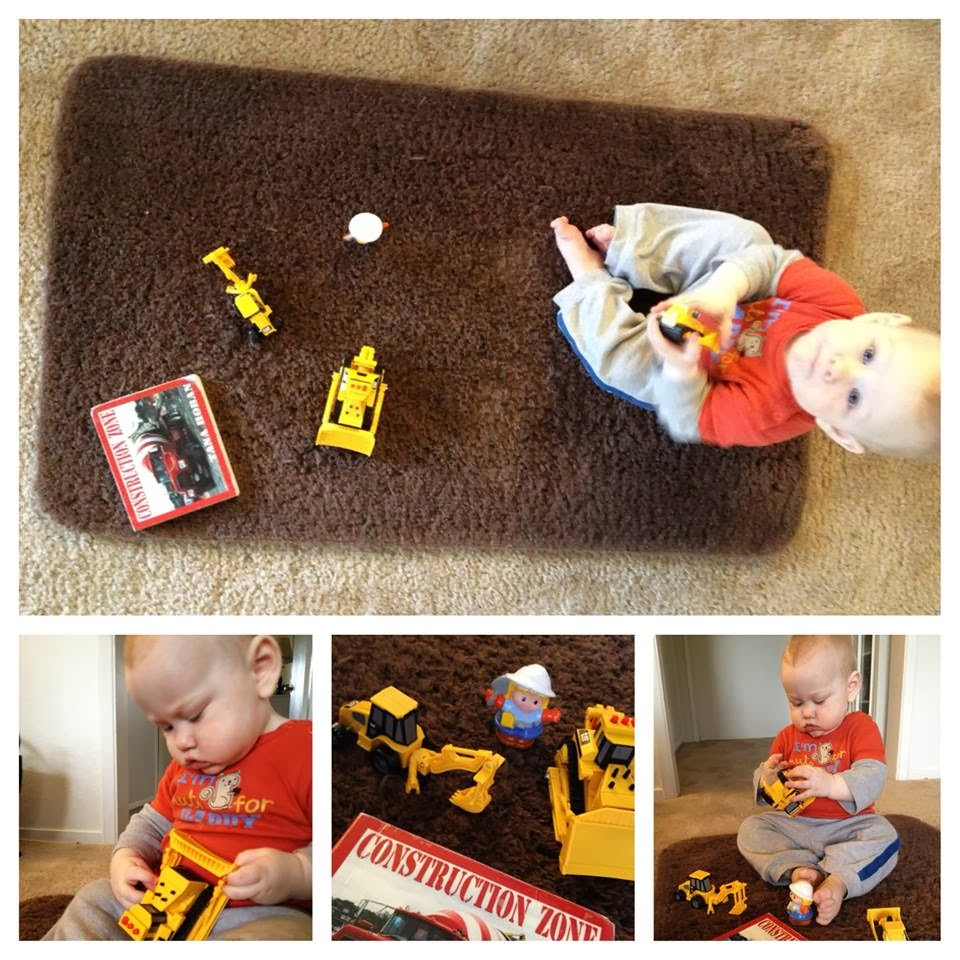 infant construction play