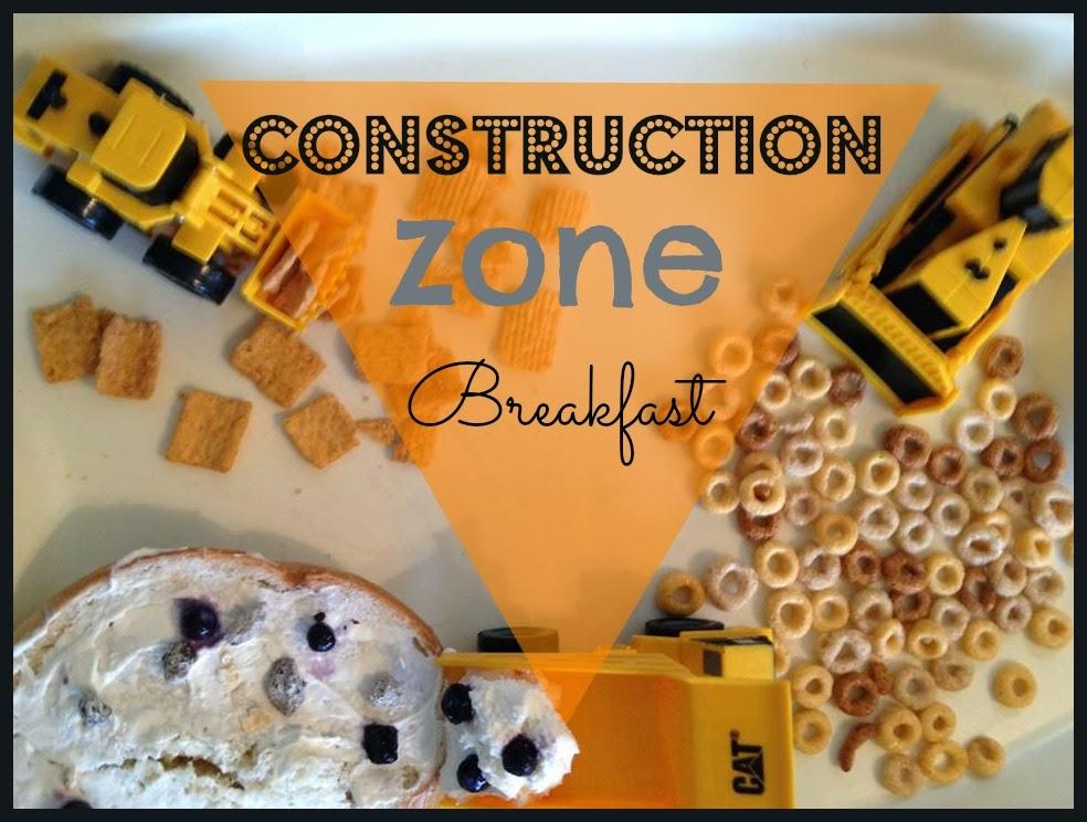 Construction Zone Breakfast   toddler activity