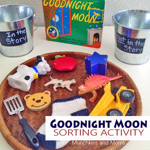 Goodnight moon sorting activity