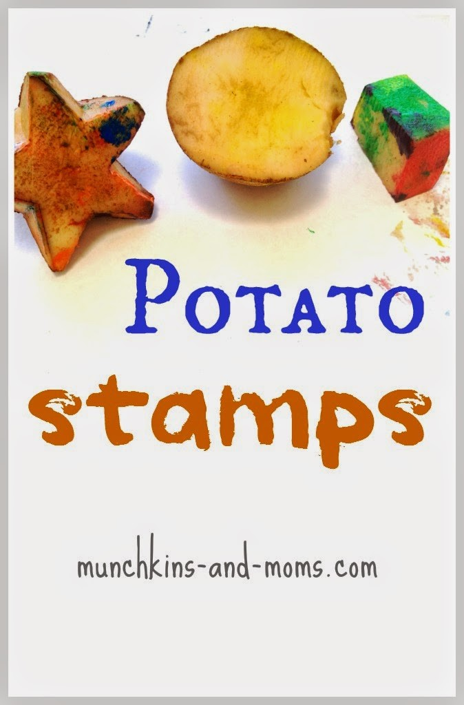 Potato stamps! What a simple way to paint with preschoolers!