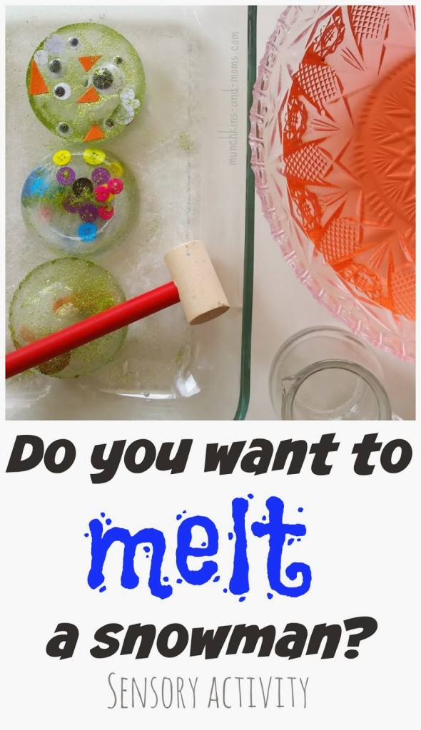 Do you want to melt a snowman?  |  Super cool sensory activity that would work for toddlers and preschoolers!