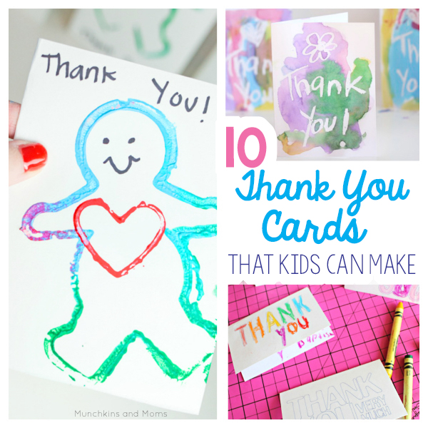 10 Thank You Cards From Toddlers And