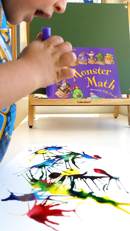 Monster Art And Math Activity Munchkins And Moms