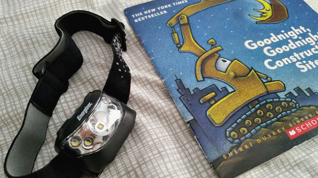 Read a bedtime story wth the Energizer headlight
