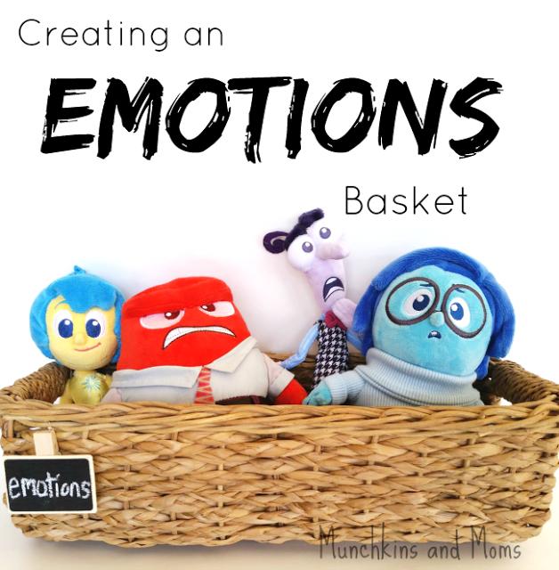 Creating an emotions basket for preschoolers