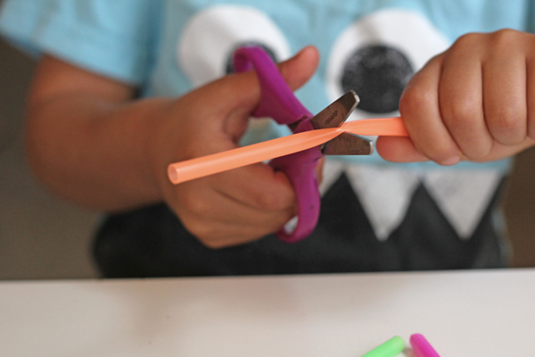 Practice scissor skills with preschoolers using this (surprisingly fun!) material!