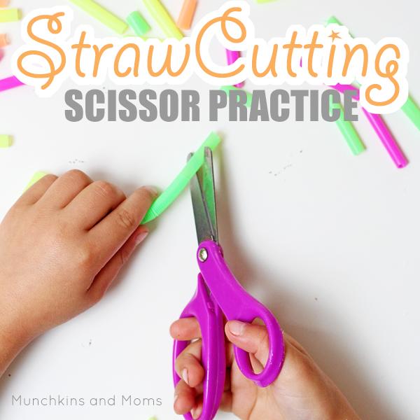 Practice scissor skills with preschoolers using this (surprisingly fun!) material!