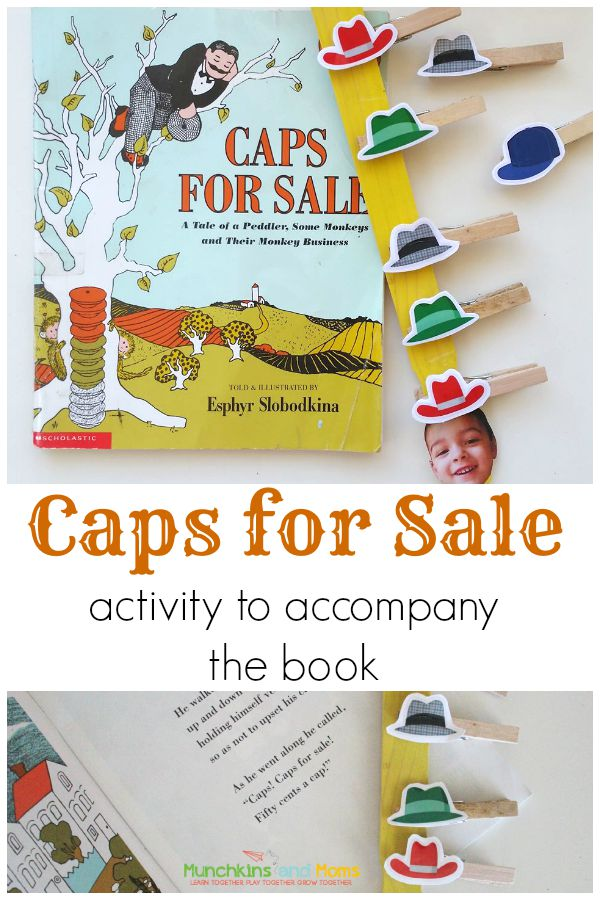 "A great preschool activity to go along with the book ""Caps for Sale""!"