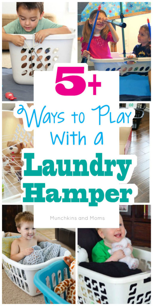 Clear out the laundry hamper for these fun ways to play with your toddlers!