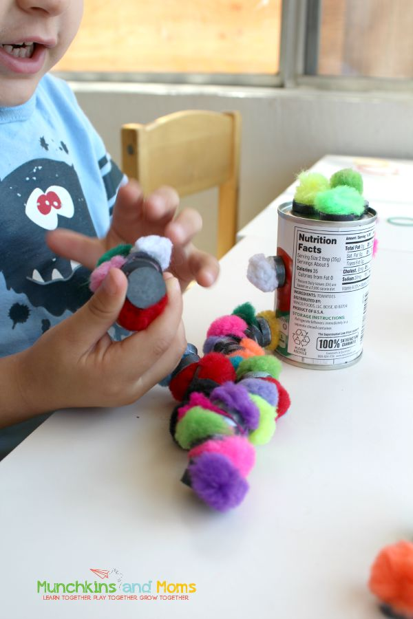 Make silly and fun soup can creatures with preschoolers!
