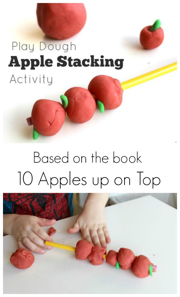 Preschool activity based on the book 10 Apples up on Top