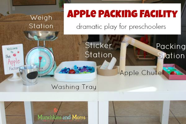 Apple dramatic play center for preschoolers!