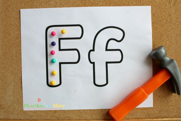 Working on alphabet skills with this fun activity!