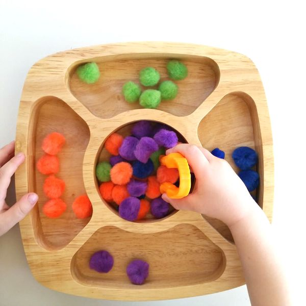 Fine motor color sorting game