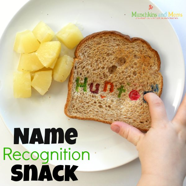 Name recognition Snack- a fun activity and snack for preschoolers!