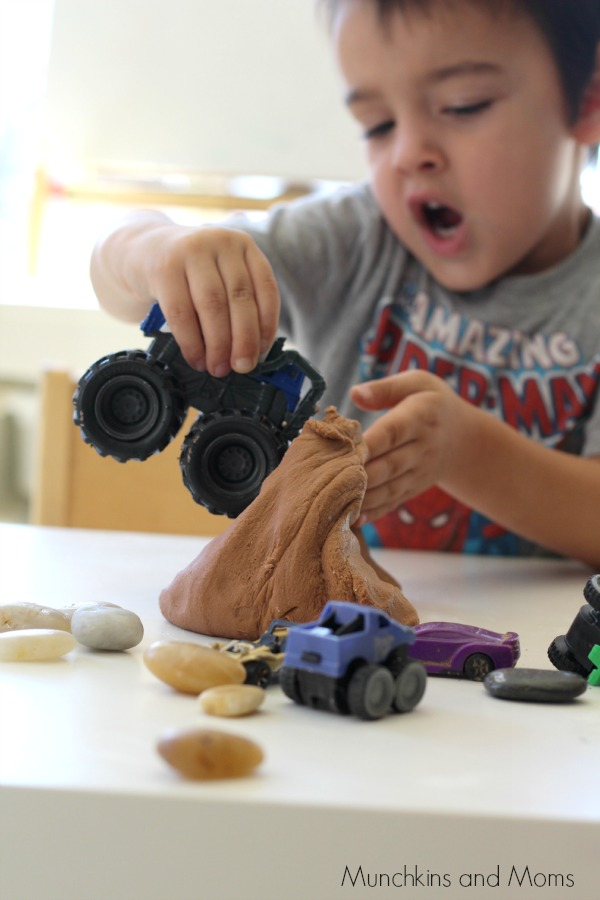 Monster trucks pretend play