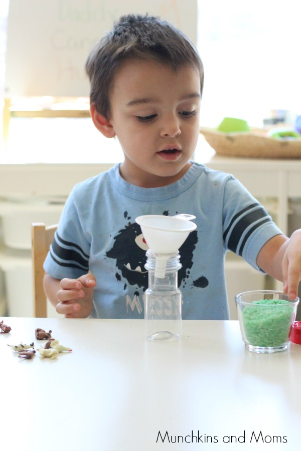 Make a fun and simple travel sized I SPY Bottle! A perfect activity for preschoolers that they can even help make!