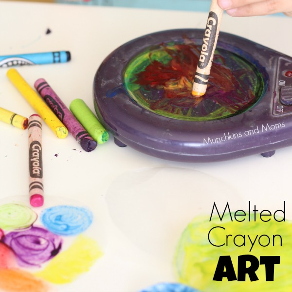Why didn't I think of this?!? What an easy way to melt crayons for suncatchers!