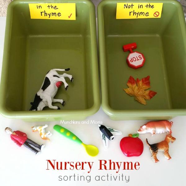 nursery rhyme sorting activity