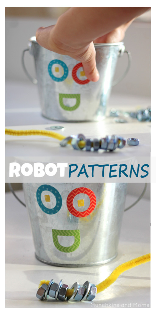 Super fun preschool robot activity! This is more than just patterning,so much pretend play involved too!