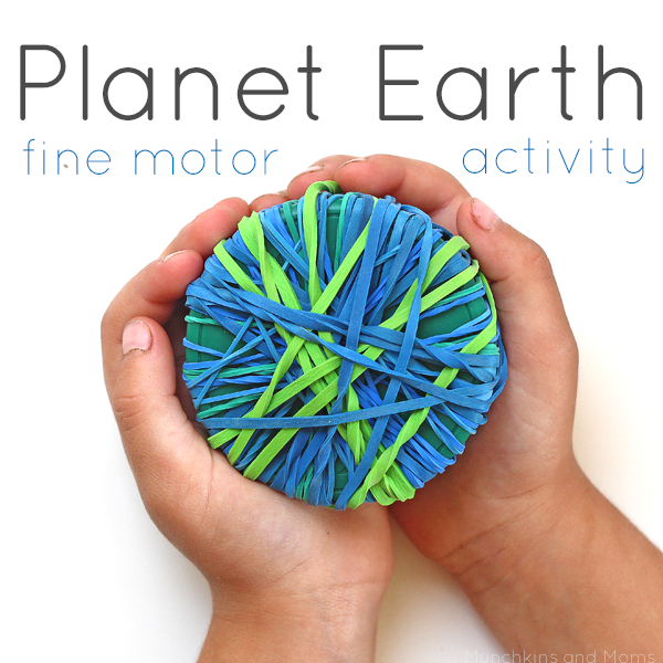Planet Earth Fine Motor Activity