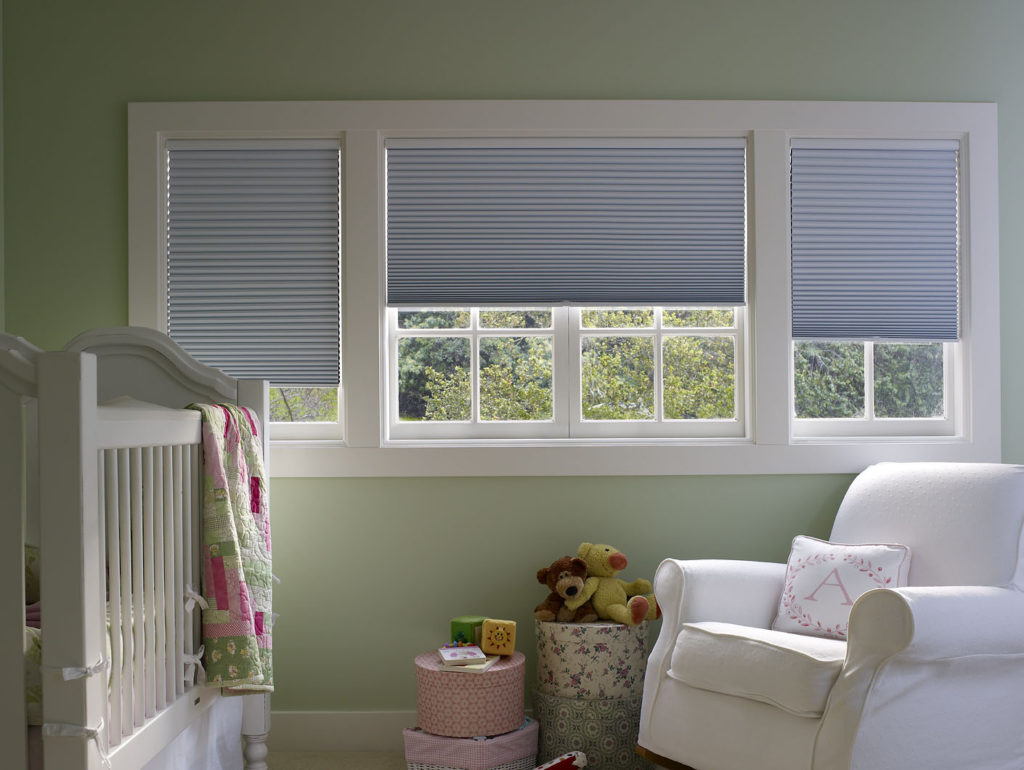 make light gap consistent ad sides of each blind(widen blind). the gap at right side of left blind is correct amount of gap (marked w a guide). retouch dark shims at top ends of headrails. eliminate electrical outlet. retouch out all hardware at bottom of window sill, across all windows. retouch highlight in glass at right.