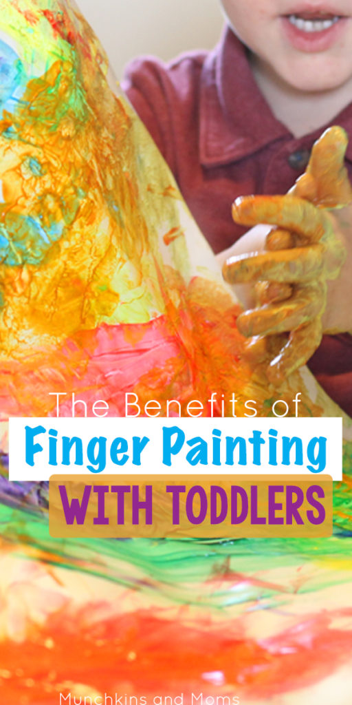 Do you enjoy finger painting with your toddlers? There's good reason to take away the brushes and let kids paint with their hands! Read more on the blog!