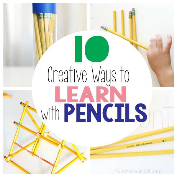 10 creative ways to learn with pencils! Great ideas for back to school learning activities.